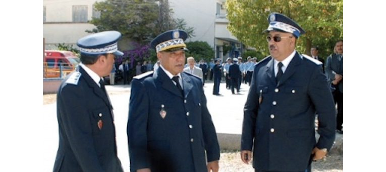 Moroccan police officers