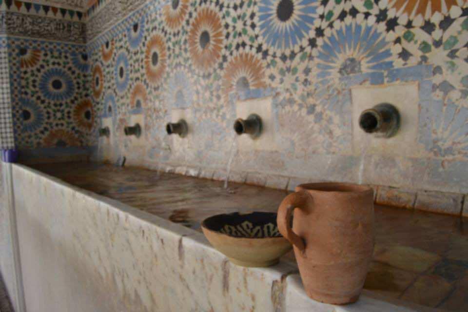 A Water Fountain in Qarawiyyin Mosque in Fez
