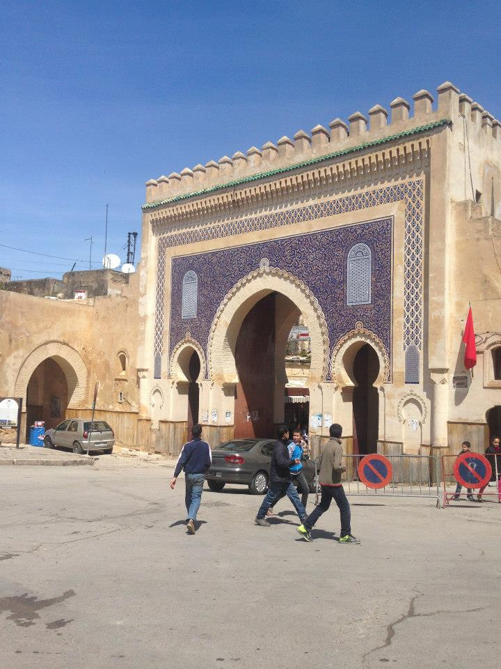 Bab Boujloud in Fez, Morocco. The Gate of Boujloud in Medina