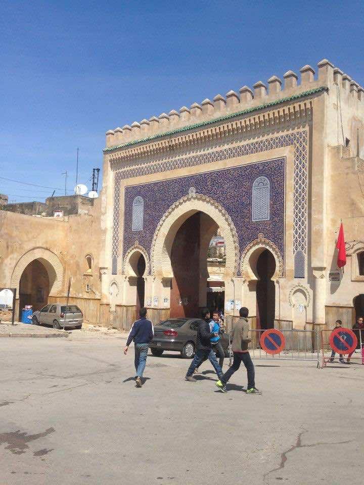 Bab Boujloud in Fez, Morocco. The Gate of Boujloud in Medina