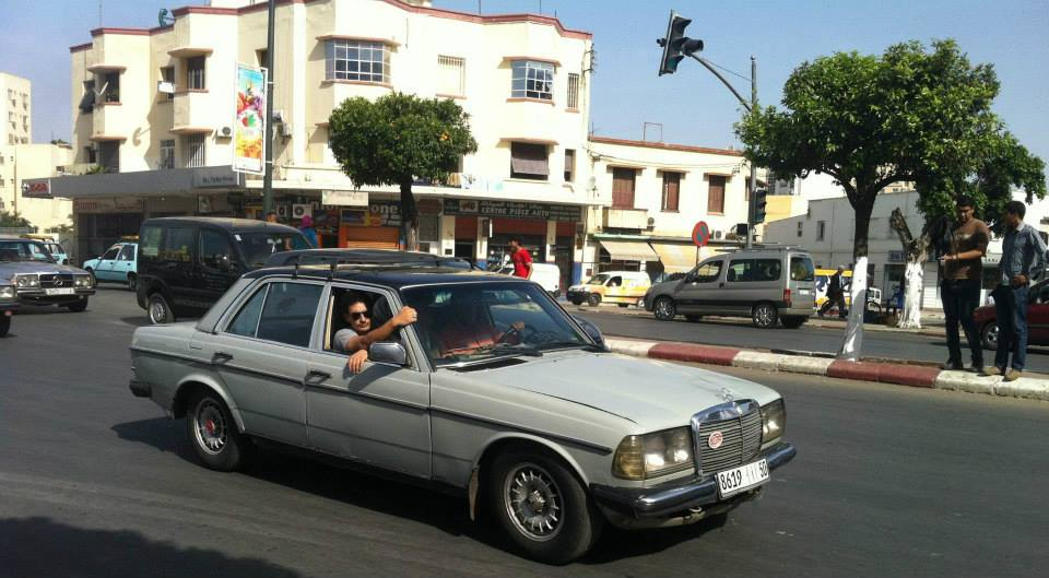 The Mercedes w123s (often 240Ds) Grand Taxis in Morocco. Photo by Morocco World News. Fez Medina