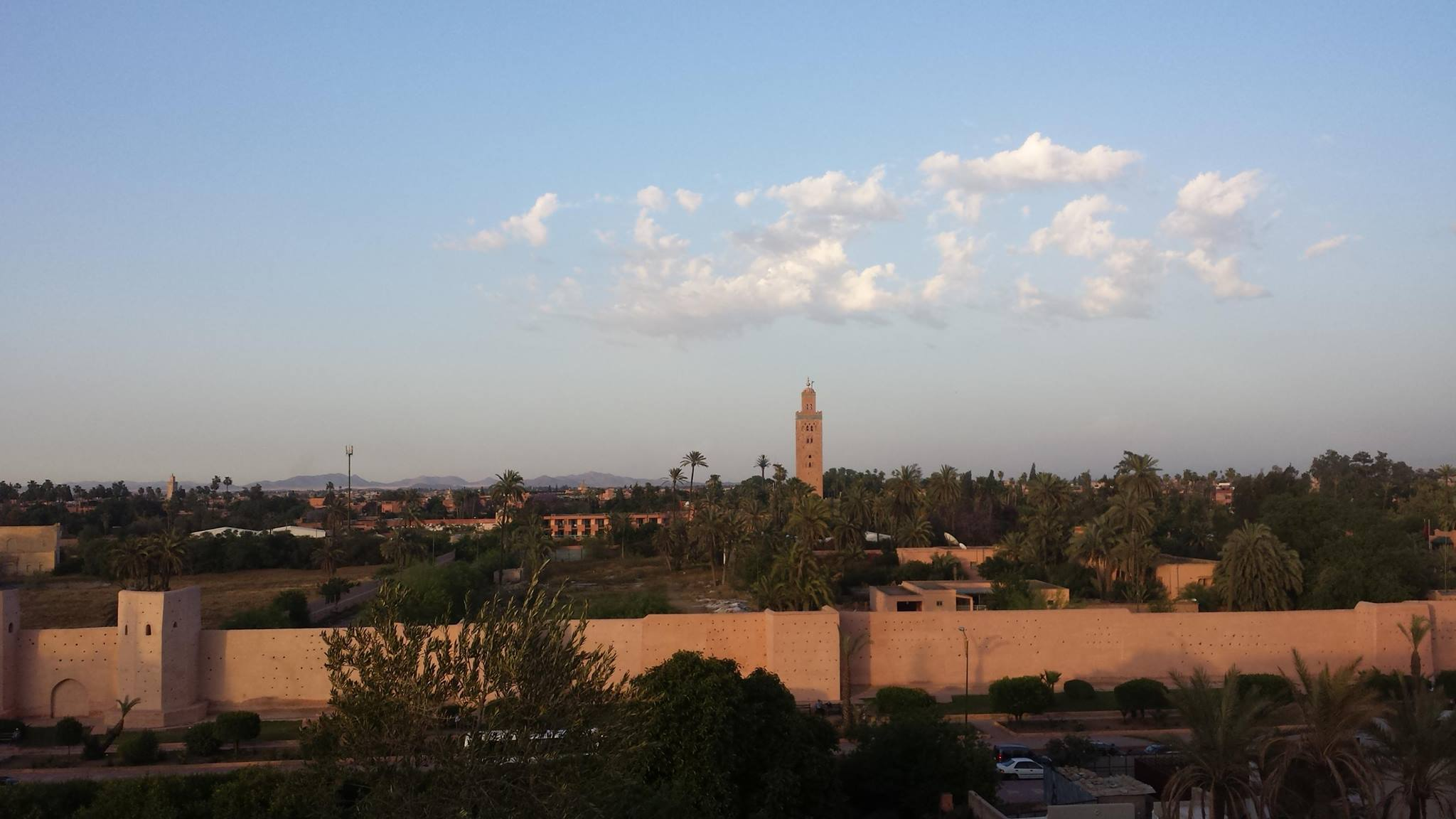 The old wall of Marrakech, Morocco