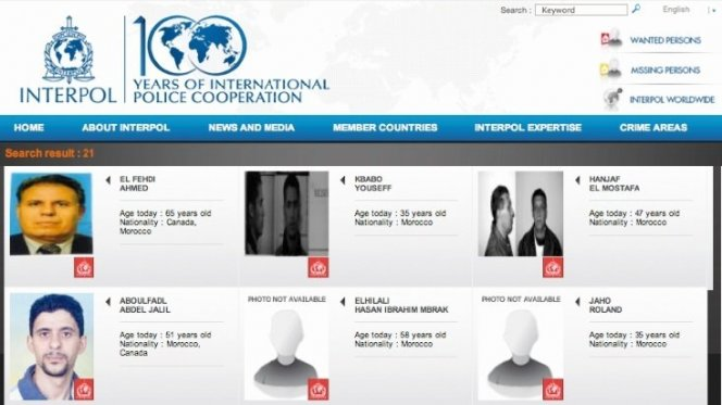 Twenty-One Moroccans Listed by Interpol As Wanted Fugitives