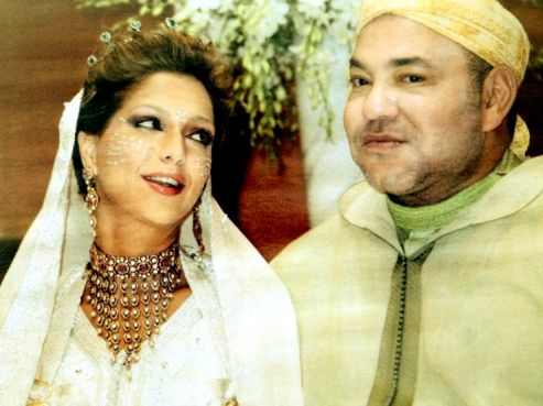 King Mohammed VI along with Princess Lalla Soukaine