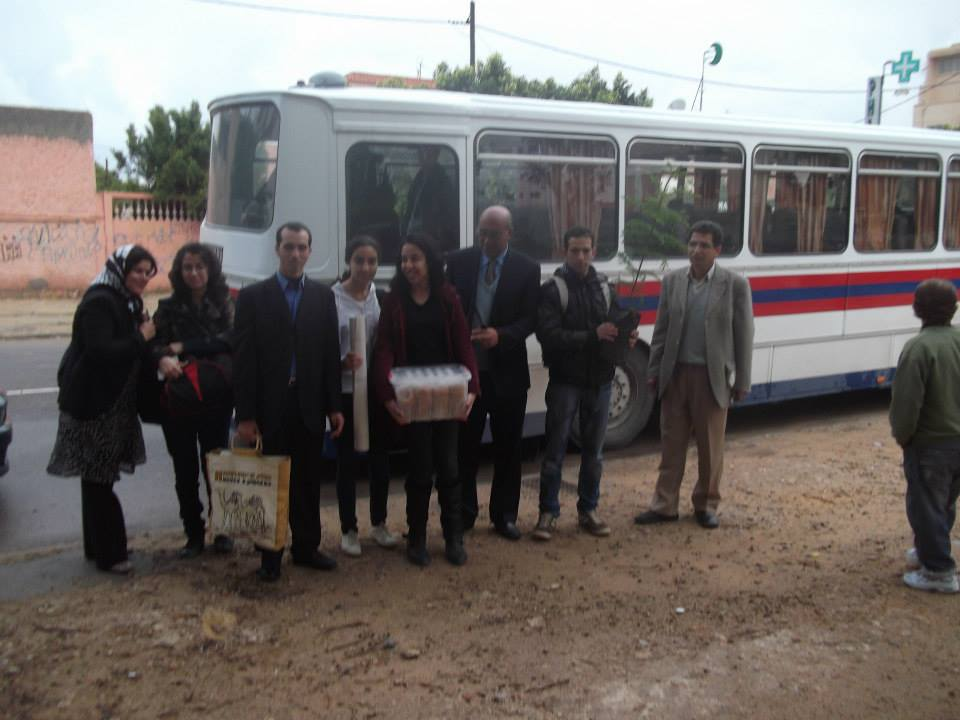Students and Parents from Safi visits a school in rural areas of Morocco