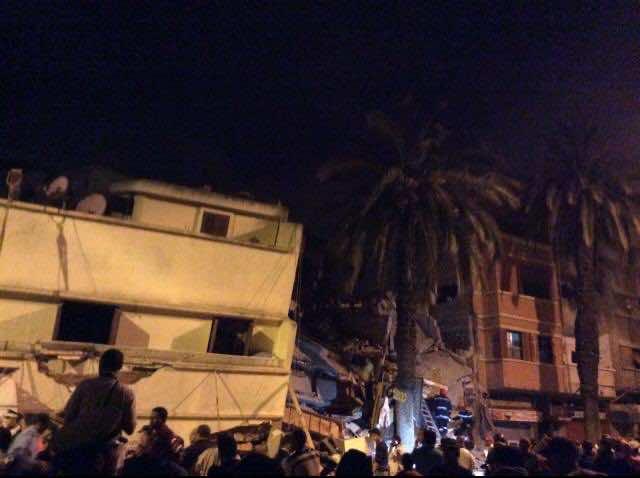 A building collapse in Casablanca