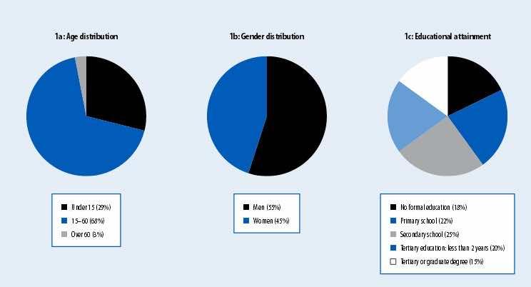 Characteristics of Moroccan Living abroad 2005