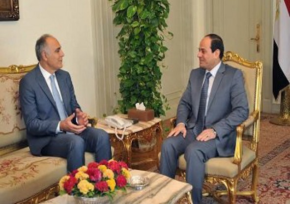 Egyptian President receives Moroccan Foreign Minister