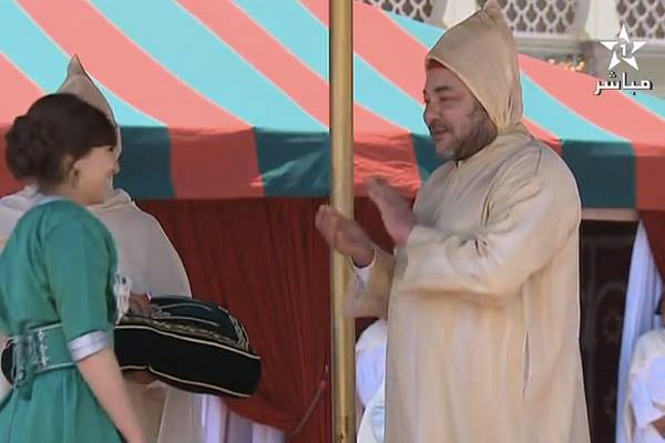 King Mohammed VI Decorates Meriem Bourhail, Top High School Student in France