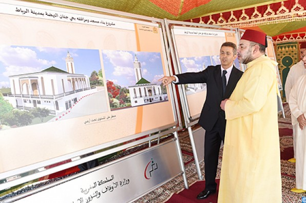 King Mohammed VI Lays Foundation Stone for Construction of Mosque in Rabat