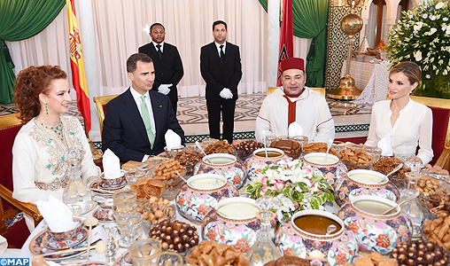 King Mohammed VI Offers Official Iftar in Honor of Spanish Sovereigns