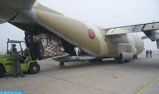Morocco Dispatches Humanitarian Aid to Gaza Population