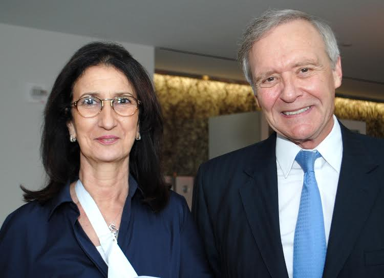 H.E. Amina Benkhadra, Director General, National Office of Hydrocarbons and Mines with program moderator Ambassador Joseph LeBaron, Senior Advisor, Squire Patton Boggs (Phot by Elisbeth Myers)