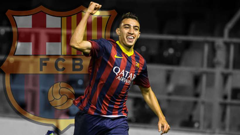 Morocco's Mounir Haddadi Scores Two Goals with Barca in Friendly