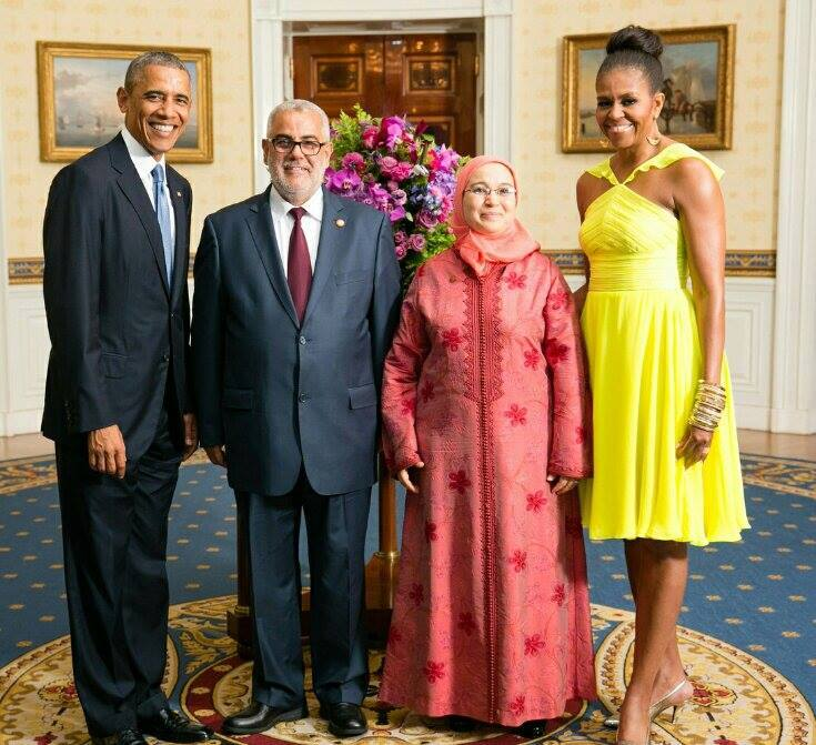 Picture of the Day, Benkirane and His Wife With a Barack and Michelle Obama