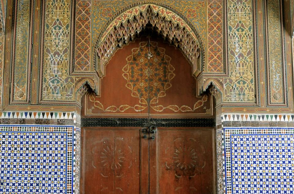 A beautiful Moroccan door with arabisc