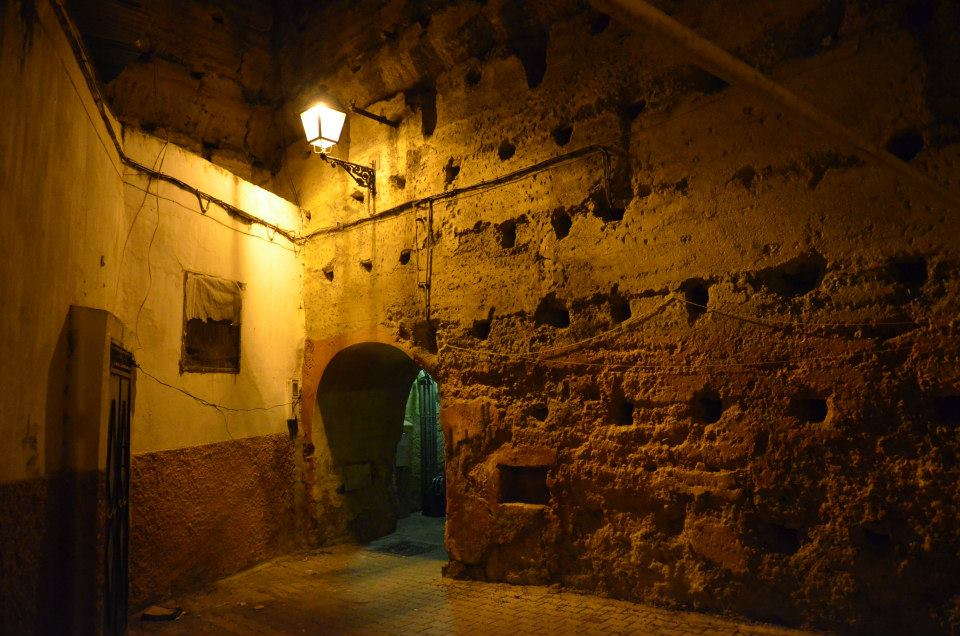 Antique lamps illuminate the passages during the silent nights
