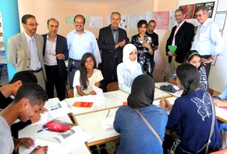 Ibn Maja high school English Resource Centre, Agadir, Morocco, was visited on Thursday, 29 May 2014 by Mr Martin Rose and Mr John Mitchell, two British Council directors together with some English teachers, inspectors and MoRCE-Net board members.