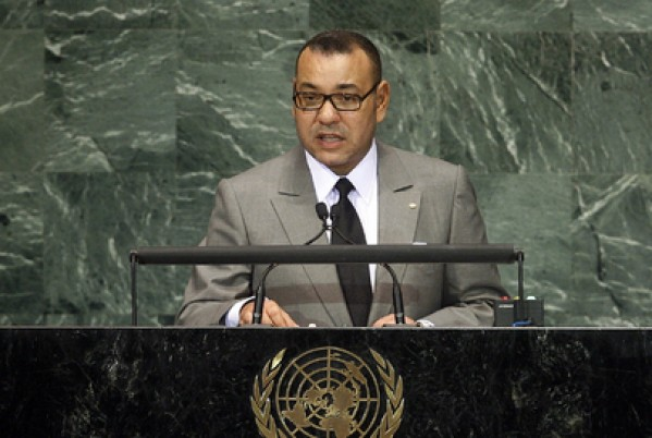 King Mohammed VI addressing the United Nations