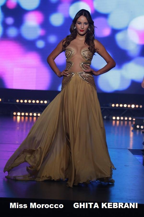 Moroccan Ghita Kerbani at Miss World Next Top Model 2014