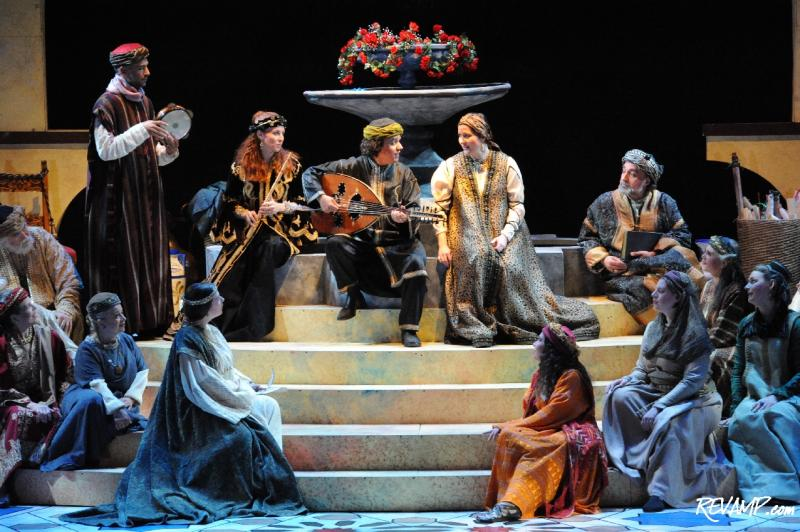 "Rachid Halihal and Layali el Andalus performing in December 2011, in the Christmas Revels production of ""Andalusian Treasures,"" at Lisner Auditorium, Washington D.C."