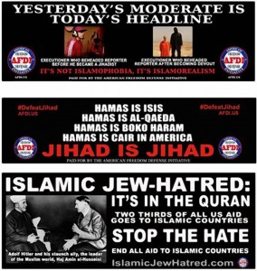 Shocking anti-Islam ad campaign coming to MTA buses, subway stations