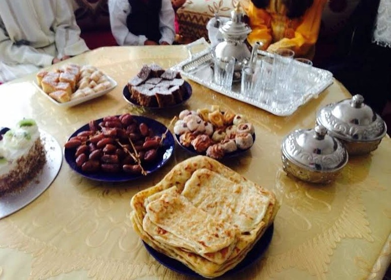 Moroccan Sweets and cokies during the Eid