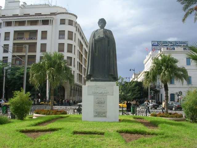 Statue of Bin Khaldoun in Tunisia