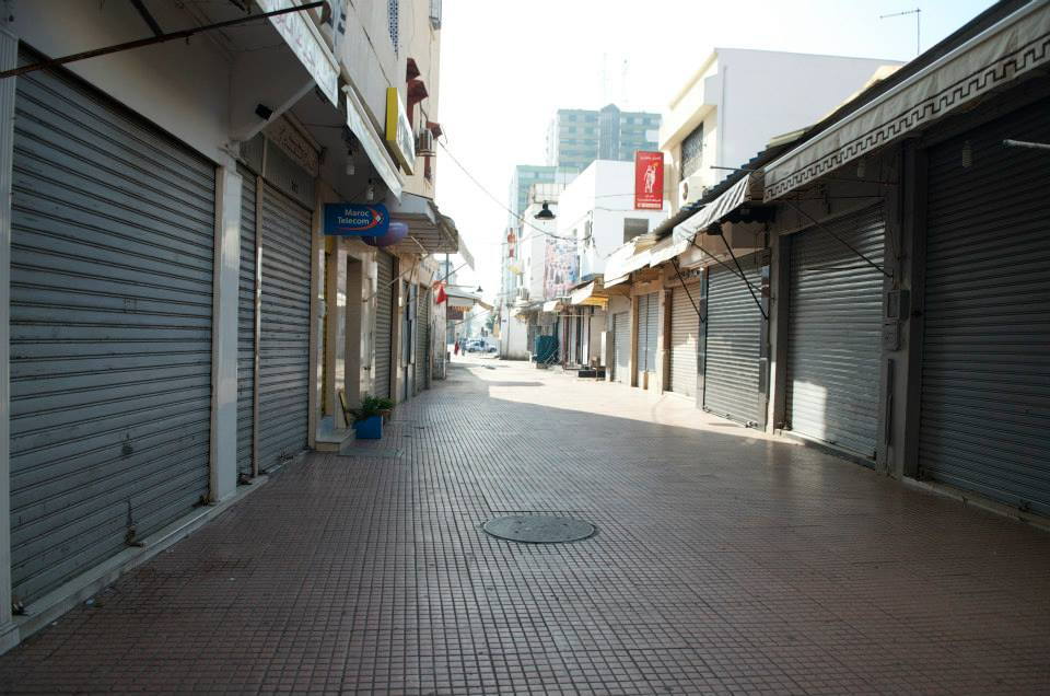 The streets of Rabat are usually empty in the morning of the Eid