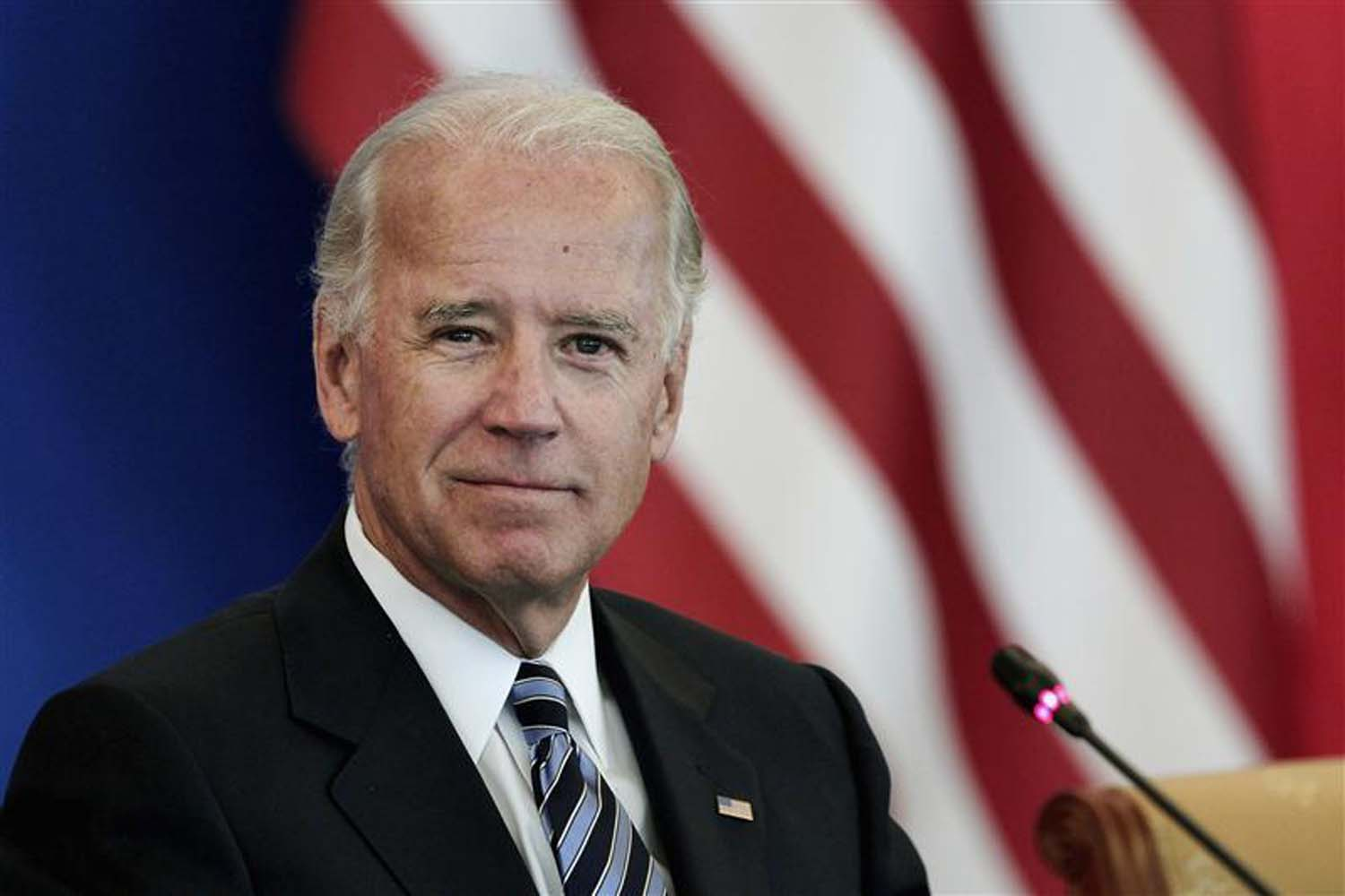 U.S. Vice President Biden attends a discussion with U.S. and Chinese business leaders at Beijing Hotel in Beijing