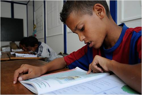 education and reading in Morocco