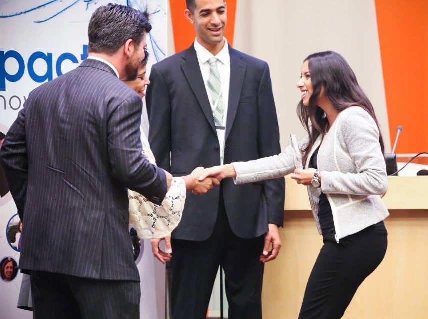 1- Nadine Hanafi Honored at UN - Main Photo
