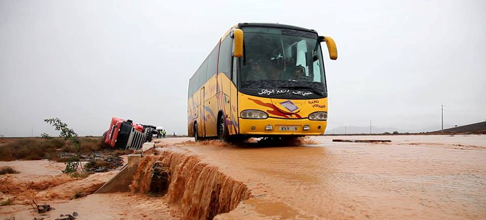 Flooding south of Morocco