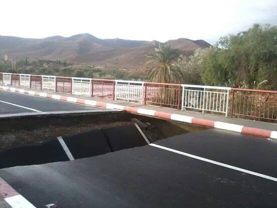 Southern Morocco Bridge Collapses after Heavy Rain