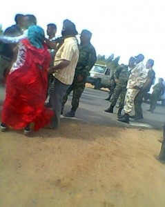 Picture shows Polisario crackdown against protesters in Rabouni