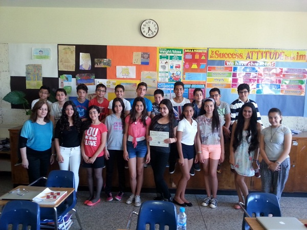 Mrs Belcaid and students