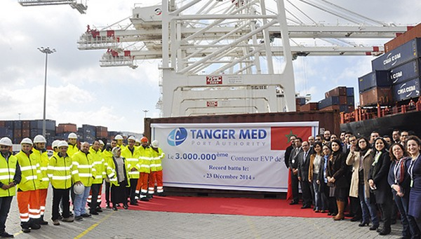 Tangier Med Port hits record of 3 million TEU containers