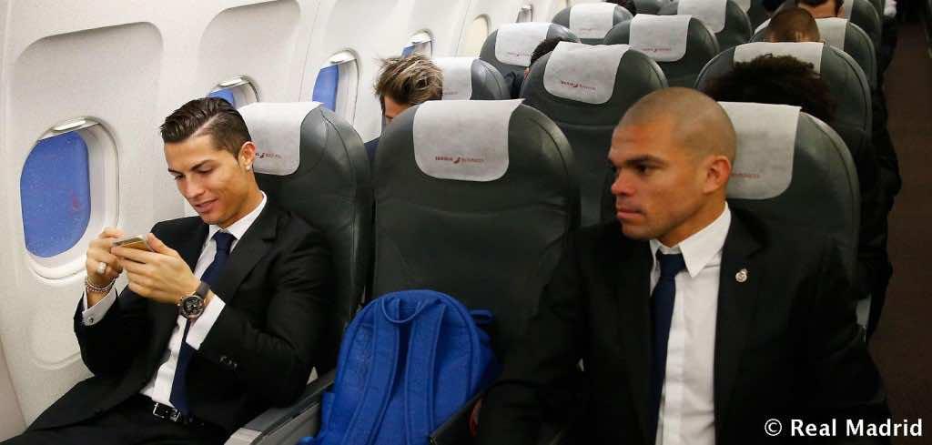 ronaldo on plane