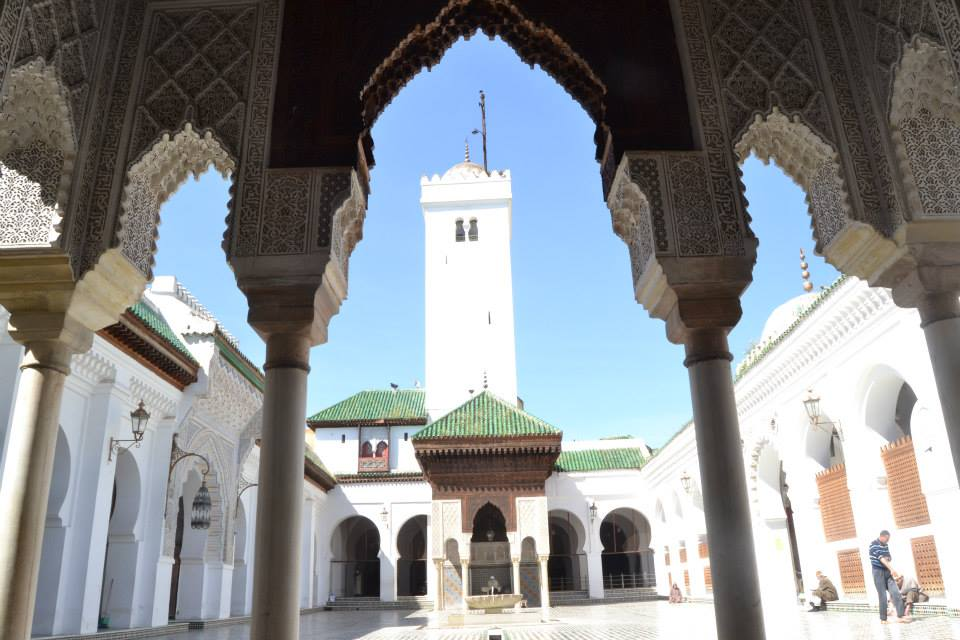 Al Karaouin University, Mosque (Mosque of al-Qarawiyyin) in Fez Morocco