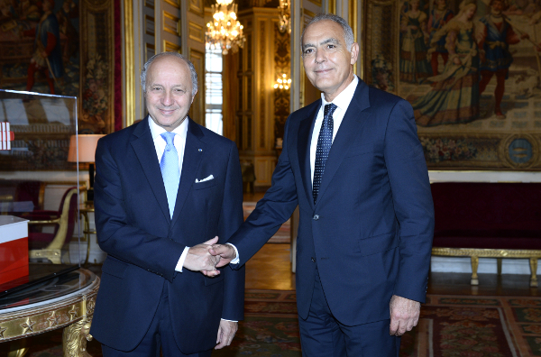 Laurent Fabius and Salaheddine Mezouar