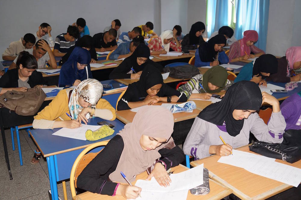 Moroccan Students taking Exams. education