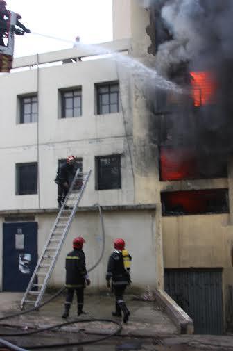 Blaze rips industrial unit in Casablanca 3