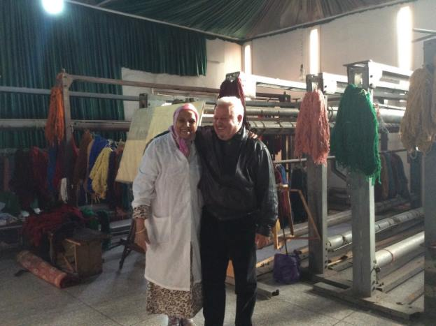 Lalla Aicha, left, is the Ma?lema (Master) of the cooperative. He is responsible for the workshop and manages to cooperatives 15-20 artisans