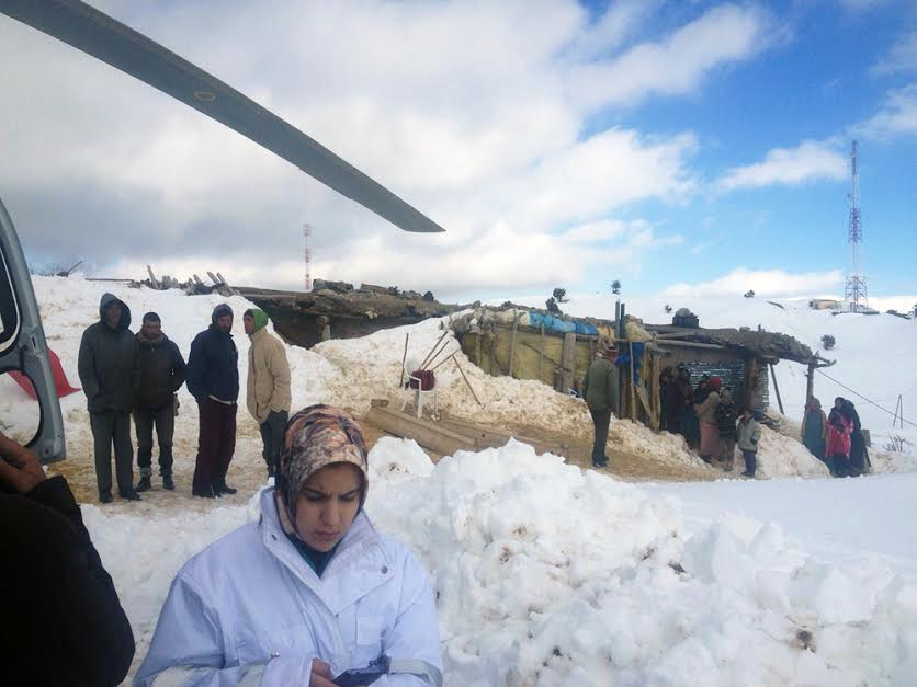 Medical helicopter in Morocco