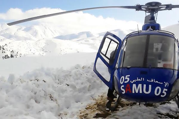 Medical helicopter Morocco