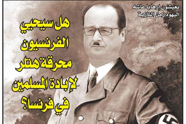 Hollande as Hitler