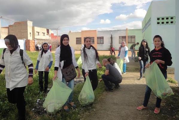 Moroccan Students in Sidi Kacem.