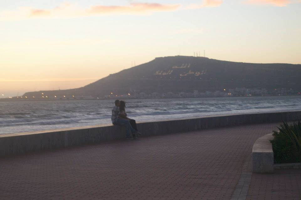 Moroccan girl and boy in Agadir