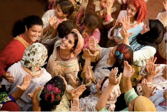 Moroccan women in full celebration swing