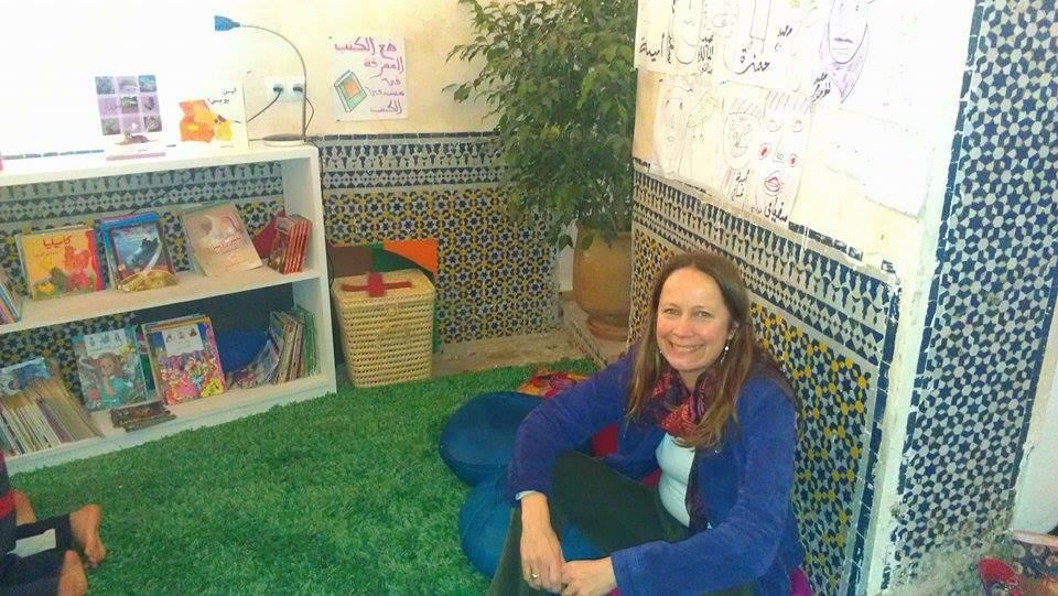 Suzanna Clarke, the author of A House in Fez, is the library's manager